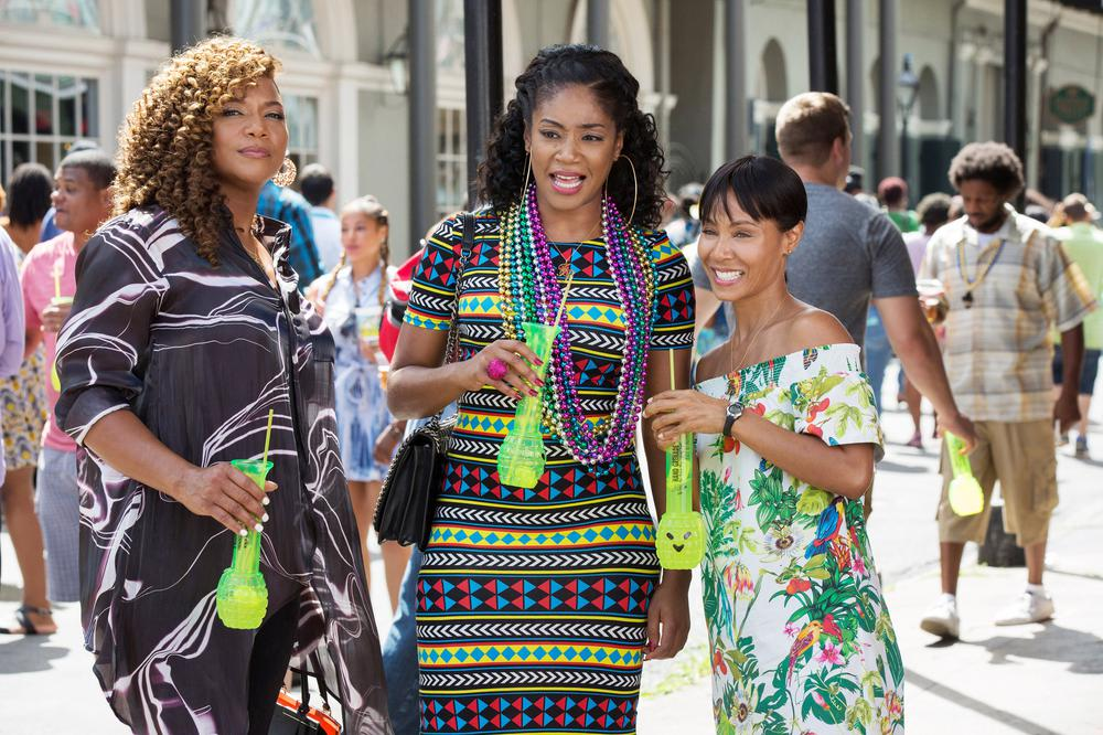GIRLS TRIP, FROM LEFT, QUEEN LATIFAH, TIFFANY HADDISH, JADA PINKETT SMITH, 2017. PH. MICHELE K. SHORT. ©UNIVERSAL PICTURES
