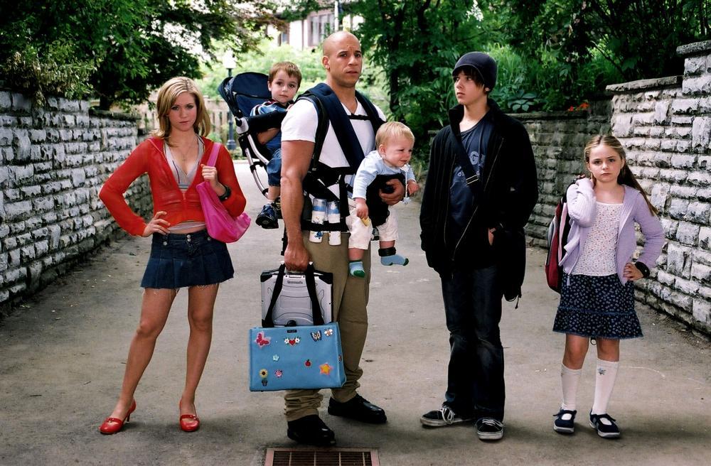 THE PACIFIER, Brittany Snow, Logan/Keegan Hoover, Vin Diesel, Luke/Bo Vink, Max Thieriot, Morgan York, 2005, (c) Walt Disney
