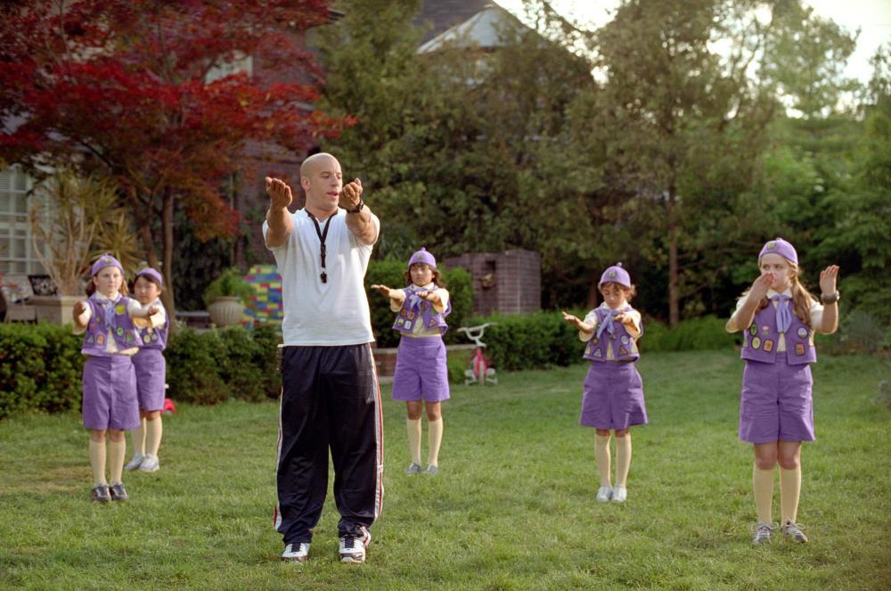 THE PACIFIER, Vin Diesel, Morgan York, 2005, (c) Walt Disney