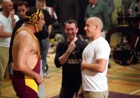 THE PACIFIER, Brad Garrett, director Adam Shankman, Vin Diesel on set, 2005, (c) Walt Disney