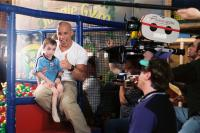 THE PACIFIER, Kegan/Logan Hoover, Vin Diesel on set, 2005, (c) Walt Disney
