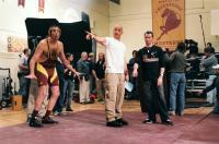 THE PACIFIER, Brad Garrett, Vin Diesel, director Adam Shankman on set, 2005, (c) Walt Disney