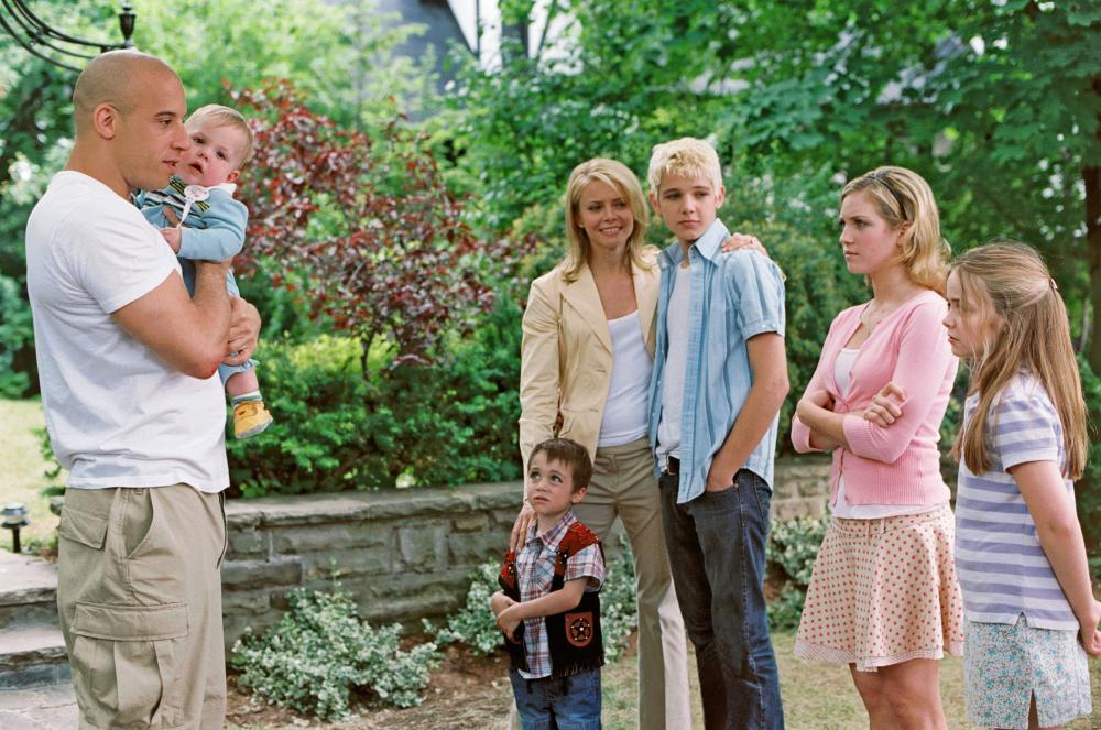THE PACIFIER, Vin Diesel, Bo/Luke Vink, Keegan/Logan Hoover, Faith Ford, Max Thieriot, Brittany Snow, Morgan York, 2005, (c) Walt Disney