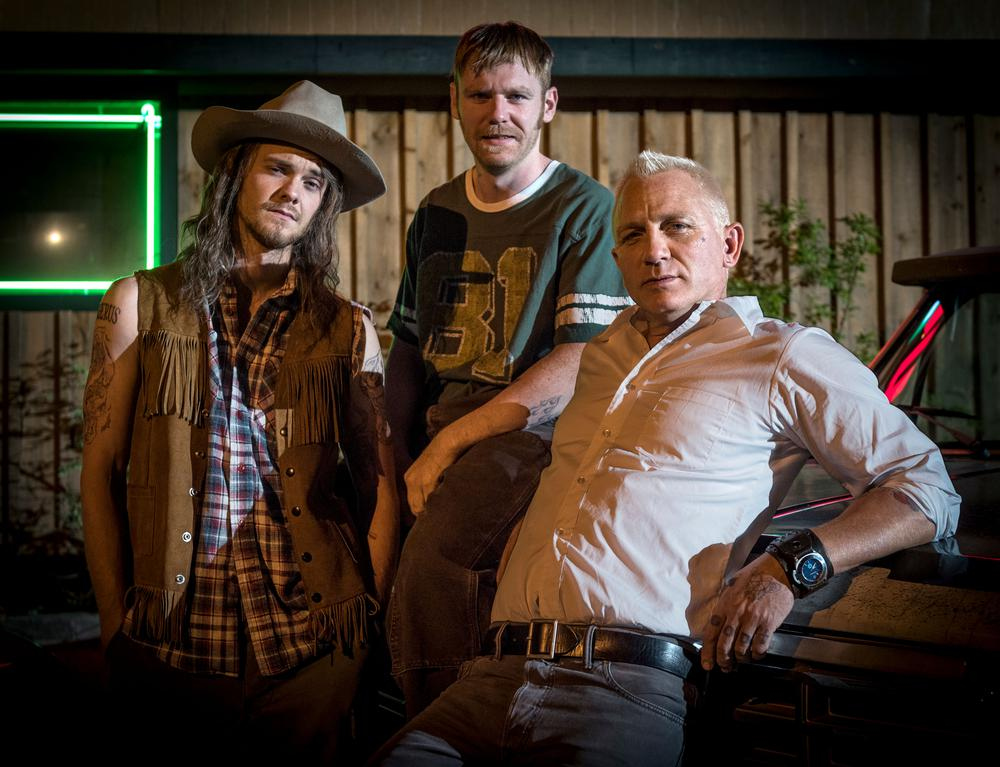 LOGAN LUCKY, FROM LEFT: JACK QUAID, BRIAN GLEESON, DANIEL CRAIG, 2017. PH: CLAUDETTE BARIUS/THEATRICAL DISTRIBUTOR: FINGERPRINT RELEASING/© AMAZON