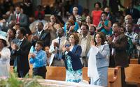 A QUESTION OF FAITH, KIM FIELDS (FLOWER PRINT), DONNA BISCOE (FRONT RIGHT), 2017. © PURE FLIX ENTERTAINMENT