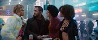BLADE RUNNER 2049, FROM LEFT: KRISTA KOSONEN, RYAN GOSLING, MACKENZIE DAVIS, ELARICA JOHNSON, 2049. © WARNER BROS.