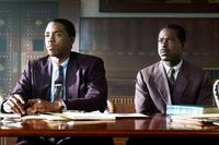 MARSHALL, FROM LEFT, CHADWICK BOSEMAN, STERLING K. BROWN, 2017. PH: BARRY WETCHER. ©OPEN ROAD FILMS