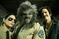 ANOTHER WOLFCOP, FROM LEFT, AMY MATYSIO, LEO FAFARD, JONATHAN CHERRY, 2017. ©PARADE DECK FILMS