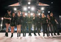 PITCH PERFECT 3, L-R: HAILEE STEINFELD, HANA MAE LEE, BRITTANY SNOW, ANNA CAMP, ANNA KENDRICK, KELLEY JAKLE, ESTER DEAN, REBEL WILSON, CHRISSIE FIT, SHELLEY REGNER, 2017. PH: QUANTRELL D. COLBERT/©UNIVERSAL PICTURES