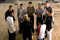 OCEAN'S TWELVE, George Clooney, Don Cheadle, Brad Pitt, Eddie Izzard, Casey Affleck, Shaobo Qin, Scott Caan, Elliott Gould, Eddie Jemison, Matt Damon, 2004, (c) Warner Brothers