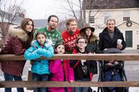 DADDY'S HOME 2, FROM LEFT: ALESSANDRA AMBROSIO, ADRIANA 'DIDI' COSTINE, MARK WAHLBERG, SCARLETT ESTEVEZ, WILL FERRELL, OWEN VACCARO, LINDA CARDELLINI, MEL GIBSON, 2017. PH: CLAIRE FOLGER/©PARAMOUNT PICTURES