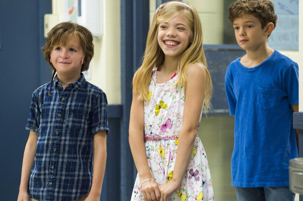 WONDER, FROM LEFT: JACOB TREMBLAY, ELLE MCKINNON, NOAH JUPE, 2017. PH: DALE ROBINETTE/© LIONSGATE