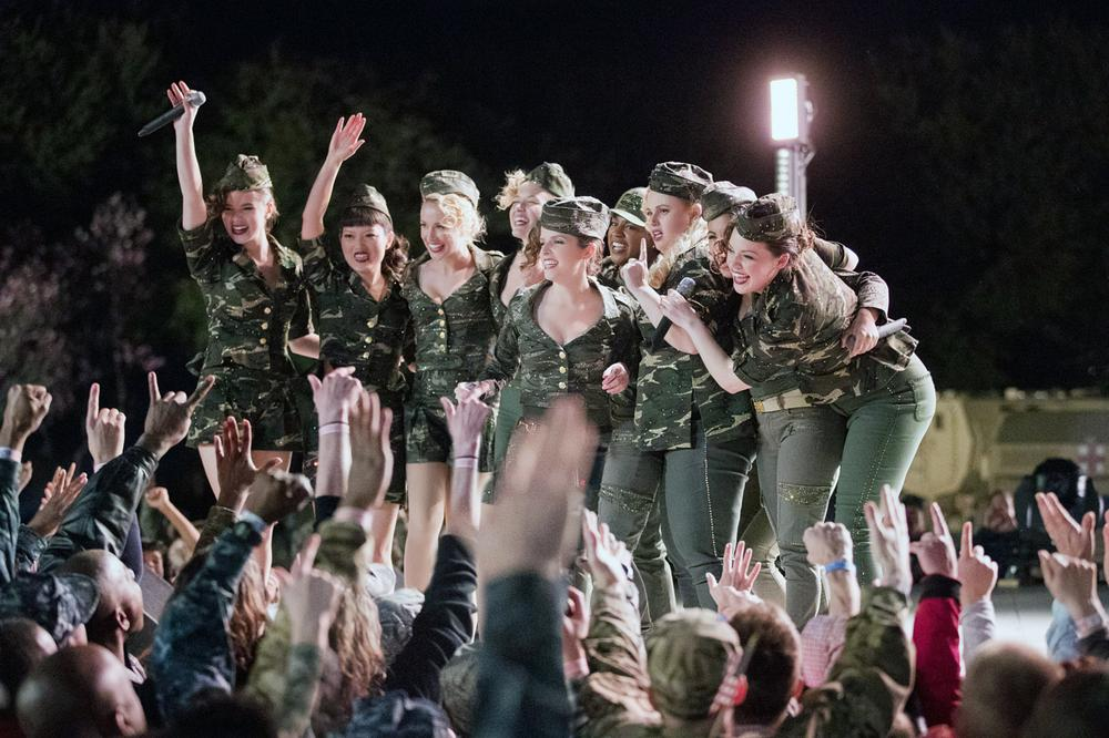 PITCH PERFECT 3, L-R: HAILEE STEINFELD, HANA MAE LEE, ANNA CAMP, KELLEY JAKLE, ANNA KENDRICK, ESTER DEAN, REBEL WILSON, CHRISSIE FIT, SHELLEY REGNER, 2017. PH: QUANTRELL D. COLBERT/©UNIVERSAL PICTURES