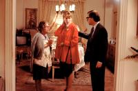 NEW YORK STORIES, from left: Mae Questel, Mia Farrow, Woody Allen, 1989, © Buena Vista
