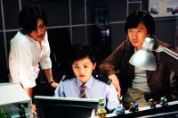 NEW POLICE STORY, (aka SAN GING CHAAT GOO SI), Nicholas Tse, Charlene Choi, Jackie Chan, 2004, (c) Universal
