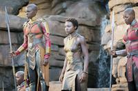 BLACK PANTHER, FROM LEFT: DANAI GURIRA, LUPITA NYONG'O, FLORENCE KASUMBA, 2018. PH: MATT KENNEDY/© MARVEL/© WALT DISNEY STUDIOS MOTION PICTURES