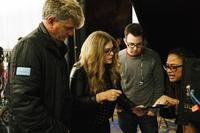 A WRINKLE IN TIME, FROM LEFT: PRODUCER JIM WHITAKER, SCREENWRITER JENNIFER LEE, EXECUTIVE PRODUCER ADAM BORBA, DIRECTOR AVA DUVERNAY ON SET, 2018. PH: ATSUSHI NISHIJIMA/© WALT DISNEY STUDIOS MOTION PICTURES