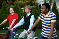 MYSTERY TEAM, from left: Dominic Dierkes, D.C. Pierson, Donald Glover, 2009. ©Roadside Attractions