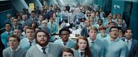 READY PLAYER ONE, JOE HURST (FRONT LEFT), JAMES DRYDEN (2ND FROM LEFT), KHALIL MADOVI (CENTER, EYEGLASSES), RONA MORISON (FRONT, RIGHT OF CENTER), ERIC SIGMUNDSSON (FRONT, 3RD FROM RIGHT), 2018. © WARNER BROS. PICTURES