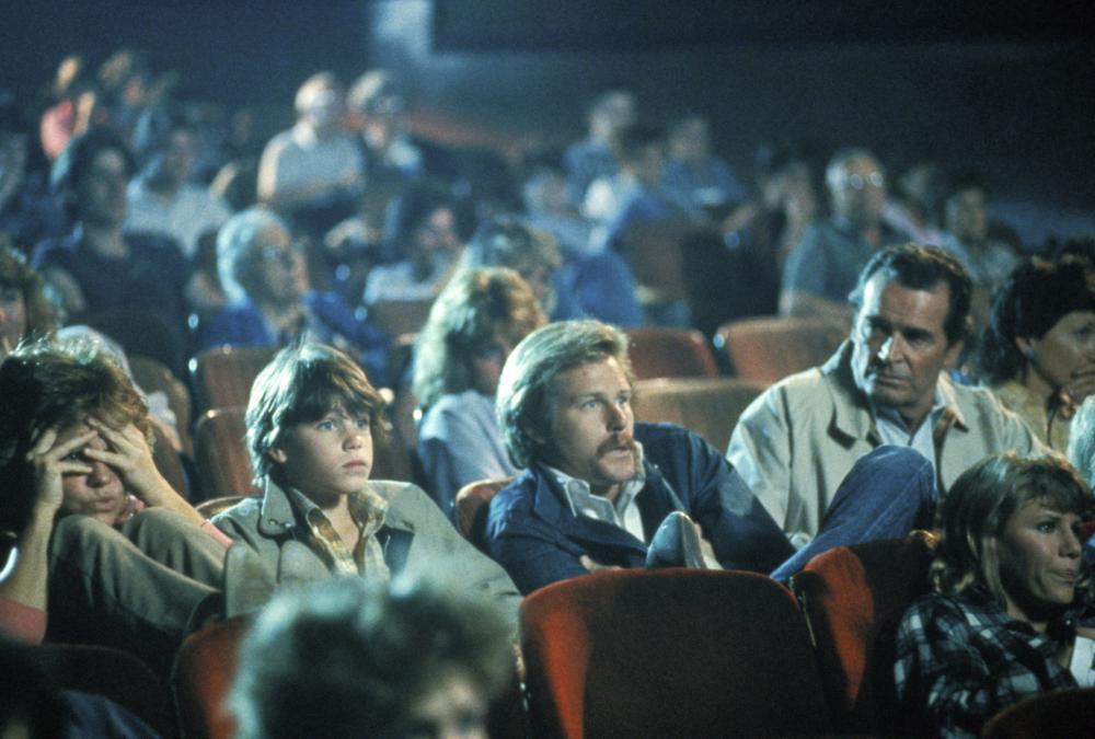 MURPHY'S ROMANCE, from left: Sally Field, Corey Haim, Brian Kerwin, James Garner, (c) 1985 Columbia Pictures