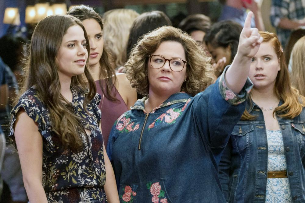 LIFE OF THE PARTY, FROM LEFT: MOLLY GORDON, ADRIA ARJONA, MELISSA MCCARTHY, JESSIE ENNIS, 2018. PH: HOPPER STONE/© WARNER BROS.