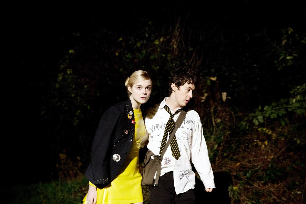 HOW TO TALK TO GIRLS AT PARTIES, L-R: ELLE FANNING, ALEX SHARP, 2017. © A24