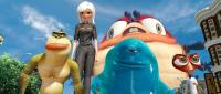 MONSTERS VS. ALIENS, from left: The Missing Link (voice: Will Arnett), Ginormica (voice: Reese Witherspoon), B.O.B. (voice: Seth Rogen), Insectosaurus, Dr. Cockroach Ph.D. (voice: Hugh Laurie), 2009. ©Paramount
