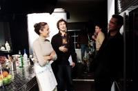 MR. AND MRS. SMITH, Angelina Jole, director Doug Liman, Brad Pitt on set, 2005, TM & Copyright (c) 20th Century Fox Film Corp. All rights reserved.