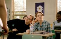 MEAN GIRLS, director Mark Waters, Lindsay Lohan on set, 2004, (c) Paramount