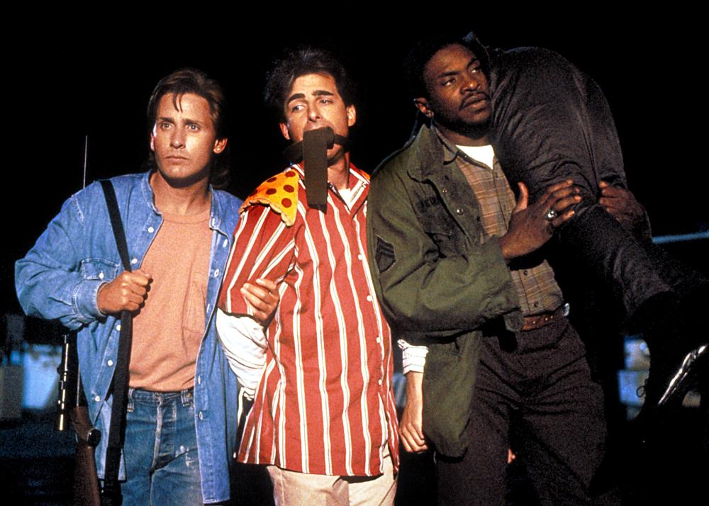 MEN AT WORK, Emilio Estevez, Dean Cameron, Keith David, 1990, (c) MGM