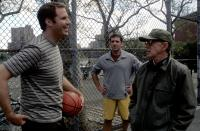 MELINDA AND MELINDA, Will Ferrell, Steve Carell, director Woody Allen on set, 2005, (c) Fox Searchlight