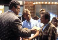 MATINEE, from left: John Goodman, Simon Fenton (rear), Dick Miller, 1993, © Universal