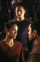 THE MATRIX RELOADED, Jada Pinkett Smith, Harry Lennix, 2003, (c) Warner Brothers