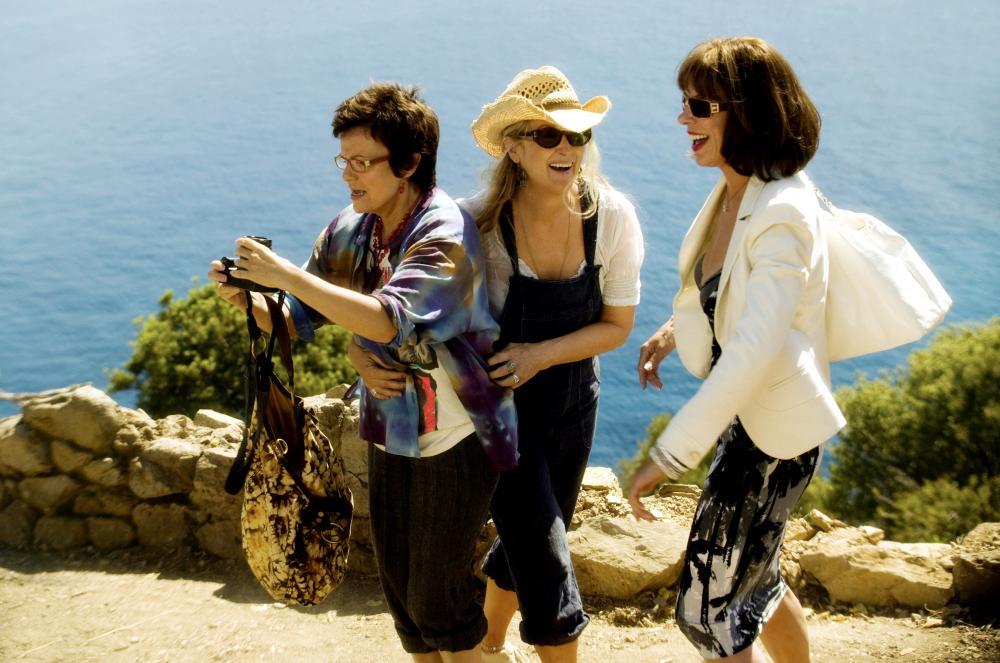 MAMMA MIA!, Julie Walters, Meryl Streep, Christine Baranski, 2008. ©Universal