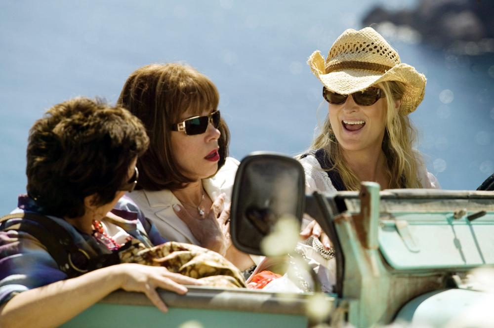MAMMA MIA!, Julie Walters, Christine Baranski, Meryl Streep, 2008. ©Universal