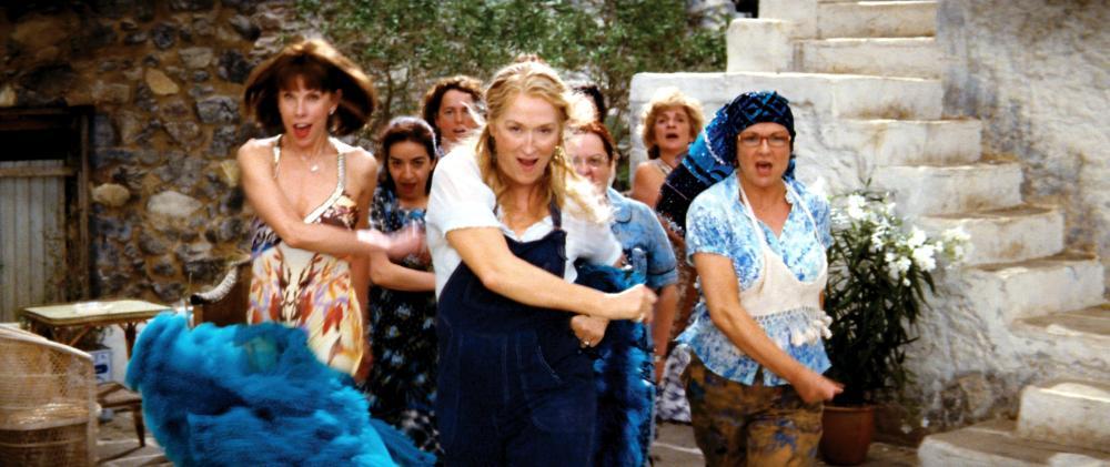 MAMMA MIA!, front, from left: Christine Baranski, Meryl Streep,  Julie Walters, 2008. ©Universal