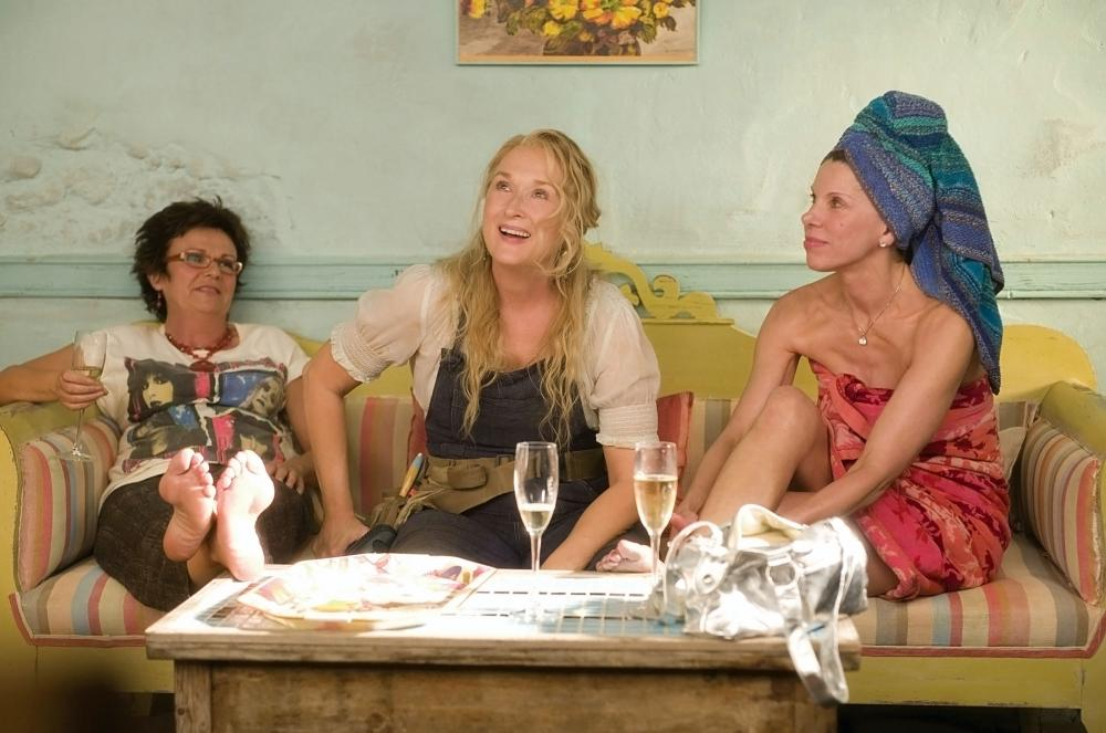 MAMMA MIA!, from left: Julie Walters, Meryl Streep, Christine Baranski, 2008. ©Universal