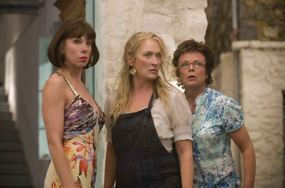 MAMMA MIA!, from left: Christine Baranski, Meryl Streep, Julie Walters, 2008. ©Universal