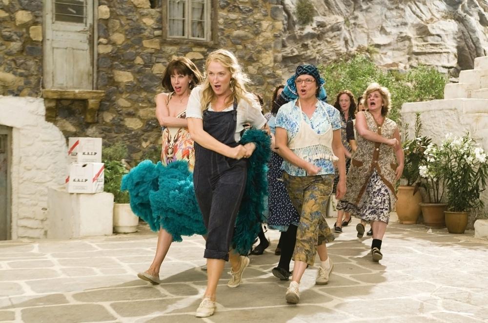 MAMMA MIA!, foreground from left: Christine Baranski, Meryl Streep, Julie Walters, 2008. ©Universal