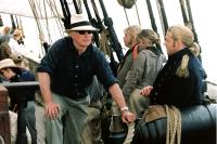 MASTER AND COMMANDER, Director Peter Weir, Russell Crowe on the set, 2003, TM & Copyright (c) 20th Century Fox Film Corp. All rights reserved.