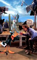 LOONEY TUNES: BACK IN ACTION, Daffy Duck, Bugs Bunny, director Joe Dante on the set, 2003, (c) Warner Brothers