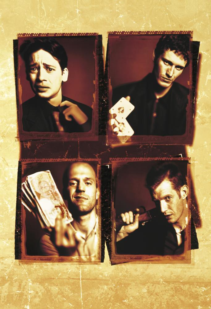 LOCK, STOCK AND TWO SMOKING BARRELS, (top) Dexter Fletcher, Nick Moran, (bottom) Jason Statham, Jason Flemyng, 1998, (c) Gramercy Pictures