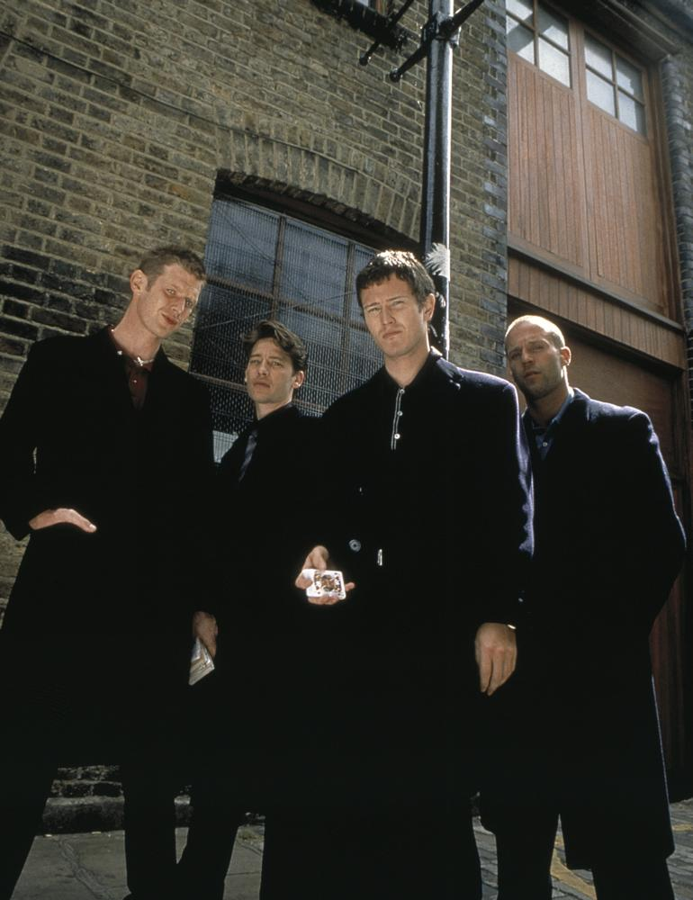 LOCK, STOCK AND TWO SMOKING BARRELS, Jason Flemyng, Dexter Fletcher, Nick Moran, Jason Statham, 1998, (c) Gramercy Pictures