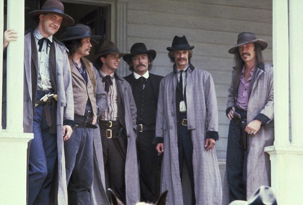 THE LONG RIDERS, Randy Quaid, Kevin Brophy, Robert Carradine, Stacy Keach, Keith Carradine, David Carradine, 1980, (c) United Artists