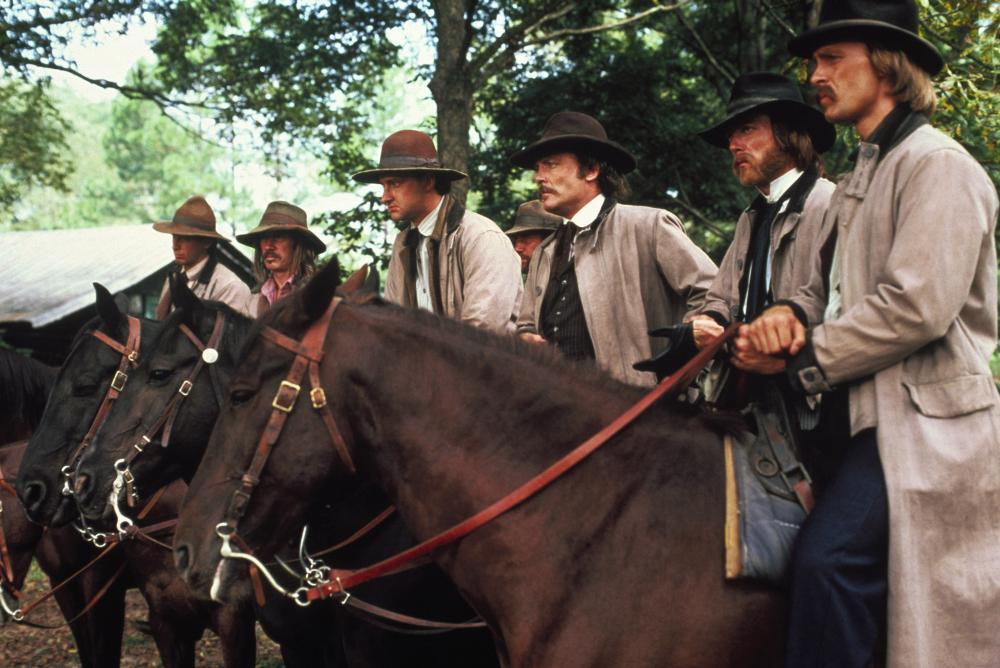 THE LONG RIDERS, Robert Carradine, David Carradine, Randy Quaid, Stacy Keach, James Keach, Keith Carradine, 1980, (c) United Artists