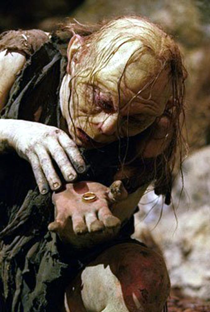 THE LORD OF THE RINGS: THE RETURN OF THE KING, Andy Serkis as `Gollum', 2003, (c) New Line