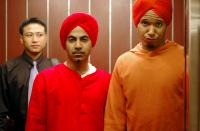 LOINS OF PUNJAB PRESENTS, front, from left: Ajay Naidu, Kory Bassett, 2007. ©Emerging Pictures