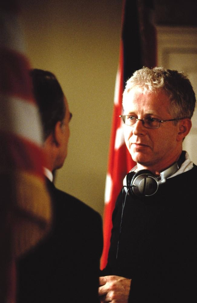 LOVE ACTUALLY, Director Richard Curtis on the set, 2003, (c) Universal