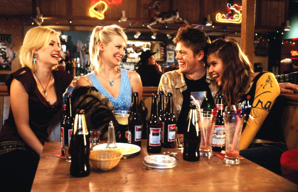 LOVE ACTUALLY, Elisha Cuthbert, January Jones, Kris Marshall, Ivana Milivevic, 2003, (c) Universal