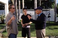 LIFE AS A HOUSE, Kevin Kline, Hayden Christensen, director Irwin Winkler on the set, 2001